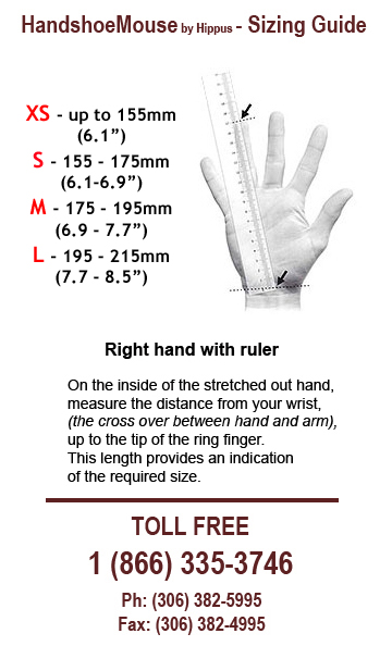 Handshoe Mouse Sizing Guide